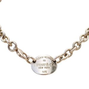 "Tiffany & Co Sterling Silver ""Dog Tag"" Choker"